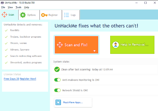 UnHackMe 11.91 Build 991 Crack With Registration Key Free Download