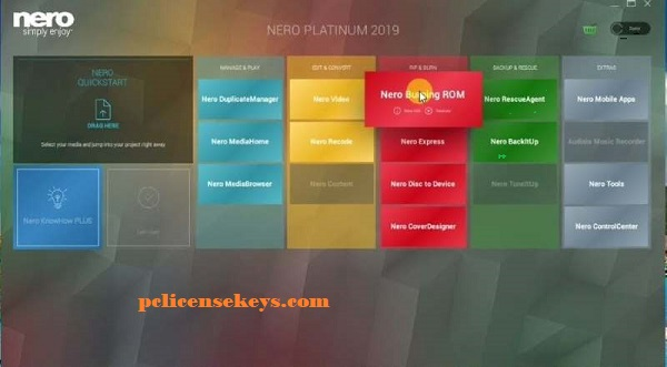 Nero Platinum 2019 Suite v20.0.07900 License Key Full Version