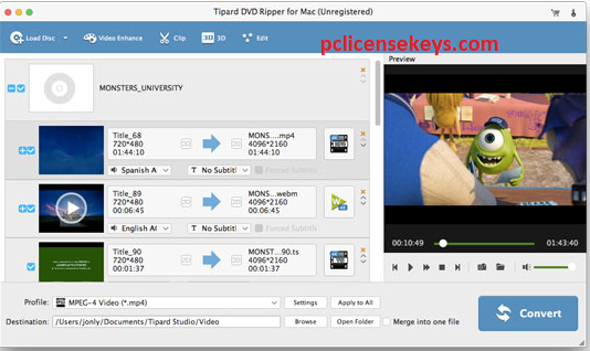 Tipard DVD Ripper 10.0.36 Crack 2021is a program to copy DVDs from your computer. To make sure you don't have any trouble running on other hardware, you need to run the application quickly to convert the disk to an audio or video file.